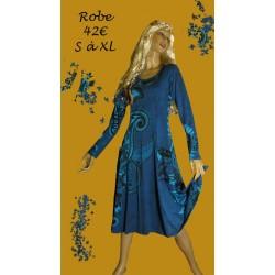 ROBE IMPRIMEE BLEUE