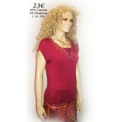 Tee-Shirt lacet dos colV motif violine