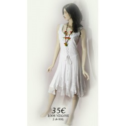 ROBE BRODEE BLANCHE
