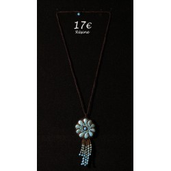 COLLIER MEDAILLON TURQUOISE