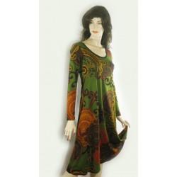 Robe imprimée verte