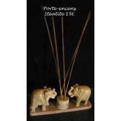 Porte-encens 2 éléphants